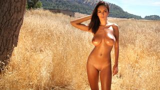 Stripped girl with the most beautiful natural large breasts ever
