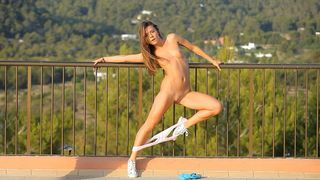 Juvenile legal age teenager hotty dancing completely stripped