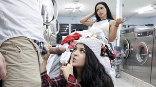 Plowing a sexy clothes-stealing teen at the local Laundromat!